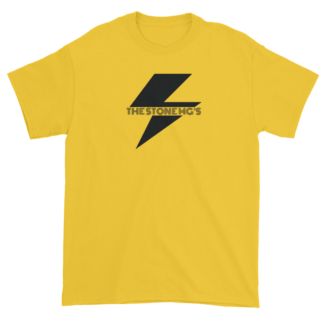 The Stone MGs Bolt T-Shirt Black on Yellow