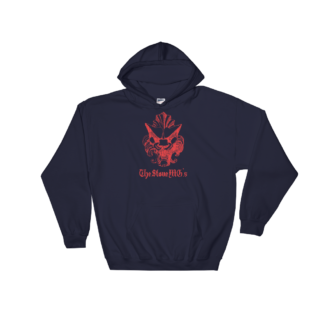 The Stone MG's Hooded Sweatshirt Red on Navy