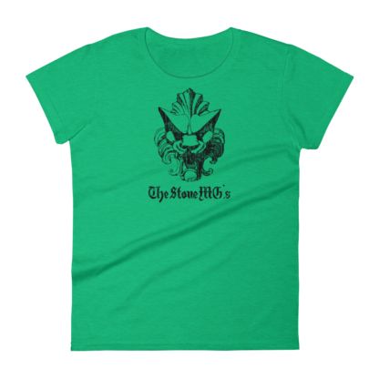 The Stone MGs Ladies Shirt Black on Heather Green