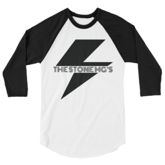 The Stone MGs Bolt Jersey Raglan Tee Black on White-Black