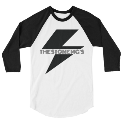 The Stone MGs Bolt Jersey Raglan Tee Black on White-Black