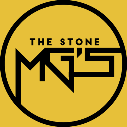 The Stone MGs Logo Black on Yellow